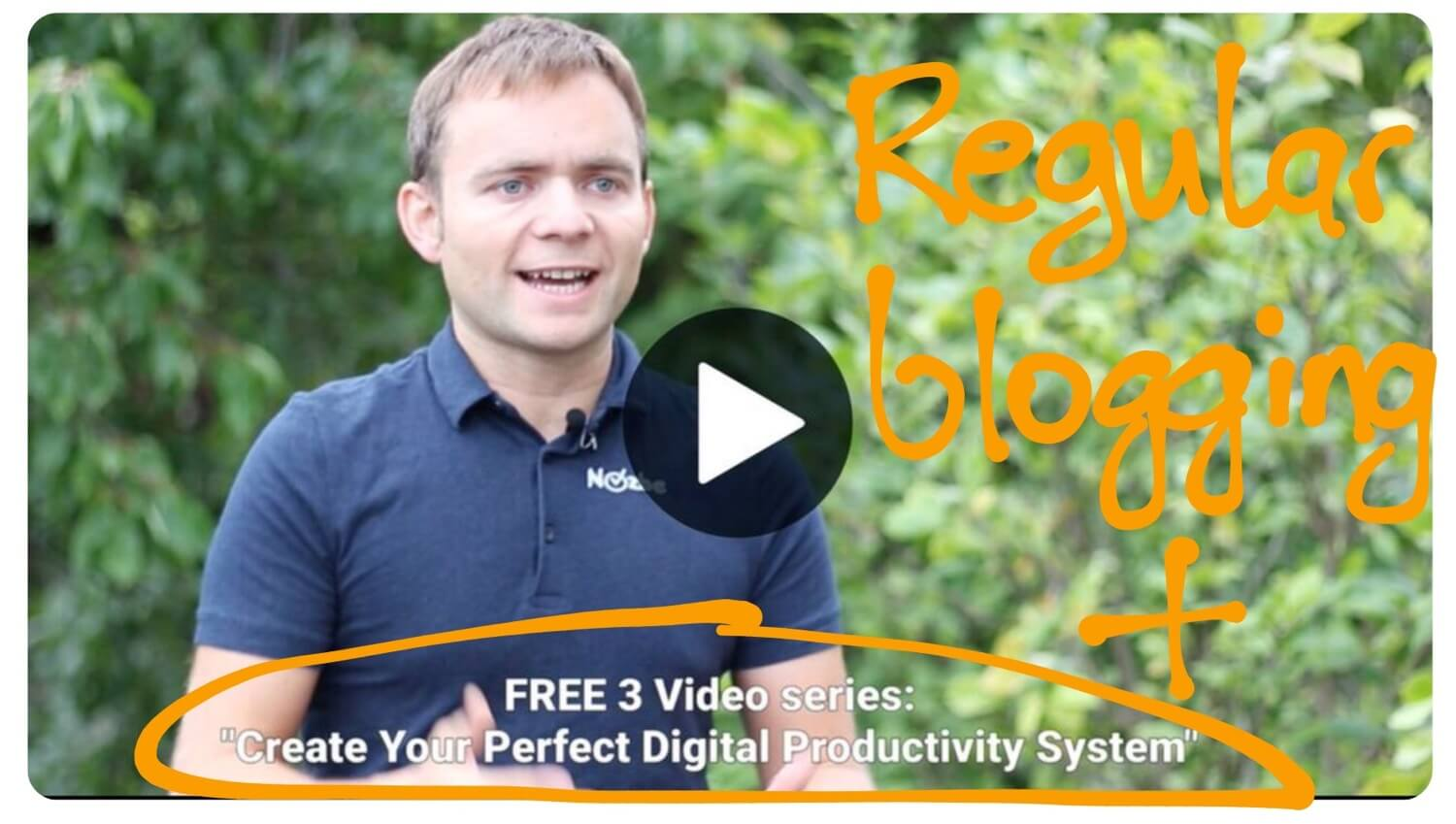 Need your opinion on my blogging every day… and my new productivity video course