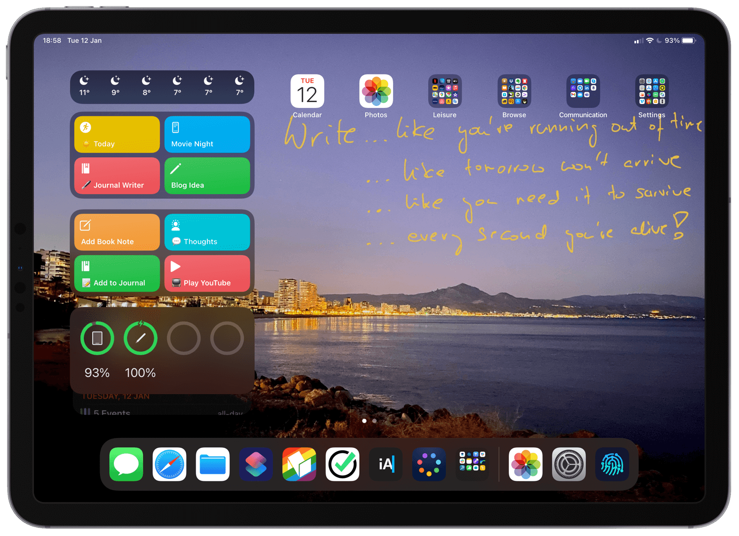 """Updated and simplified list of iPad apps that help me work #iPadOnly and get lots done on my iPad Pro 11"""""""