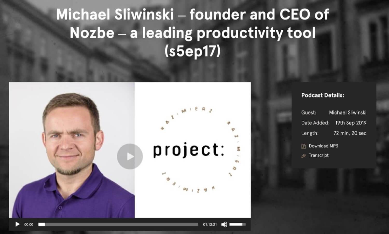 Talking entrepreneurship on Project Kazimierz podcast