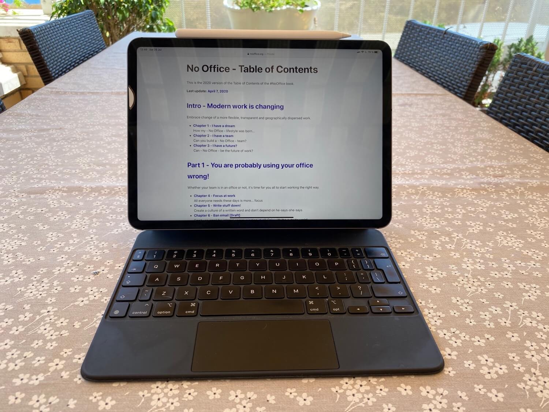 Pisanie książki latem… za pomocą iPada