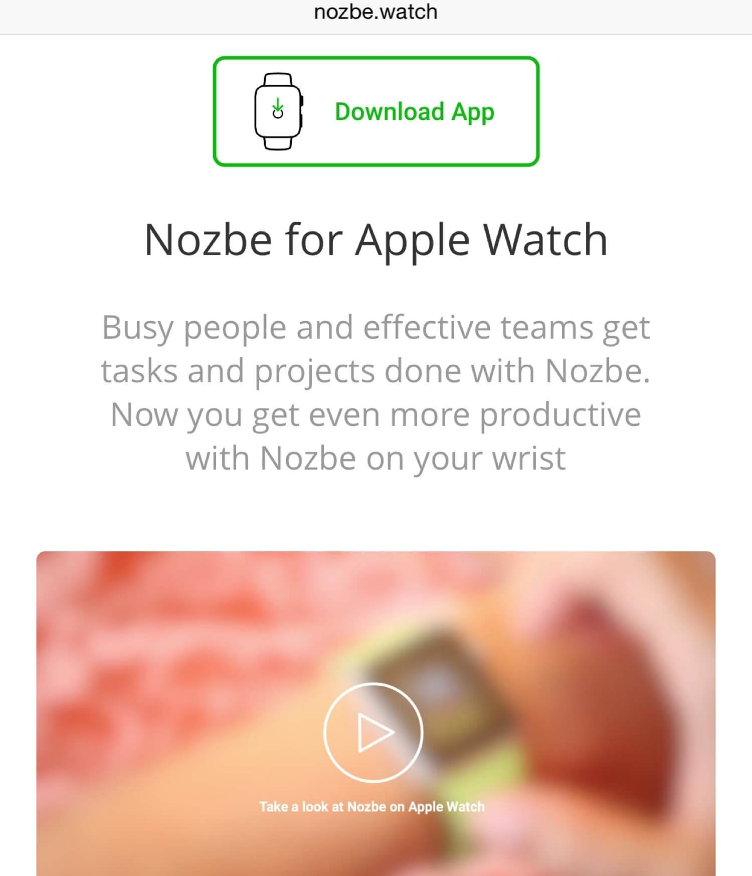 New video with yours truly - how to get things done on your wrist [on: Nozbe.watch]