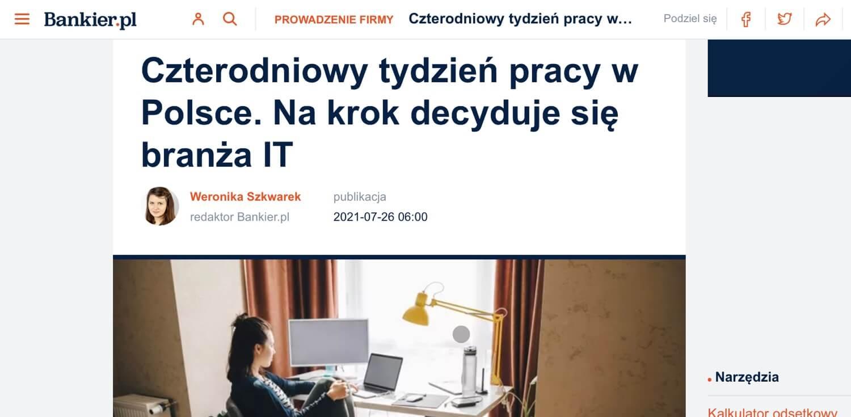 O piąteczkach w Nozbe w prasie w Polsce - InnPoland, Bankier, Fakt, Wprost itd..
