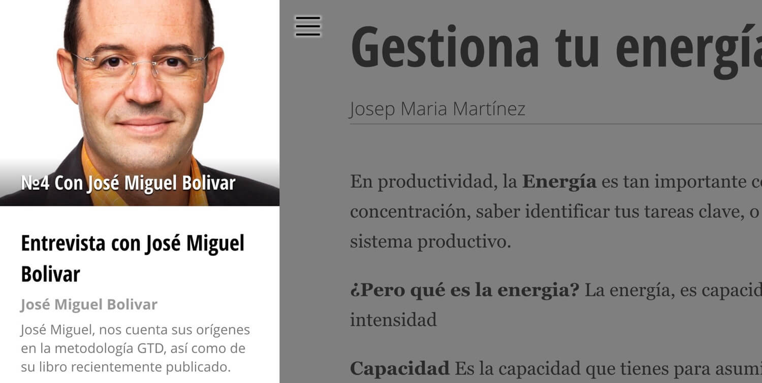 Productive! Magazine In Spanish, issue 4 with José Miguel Bolivar