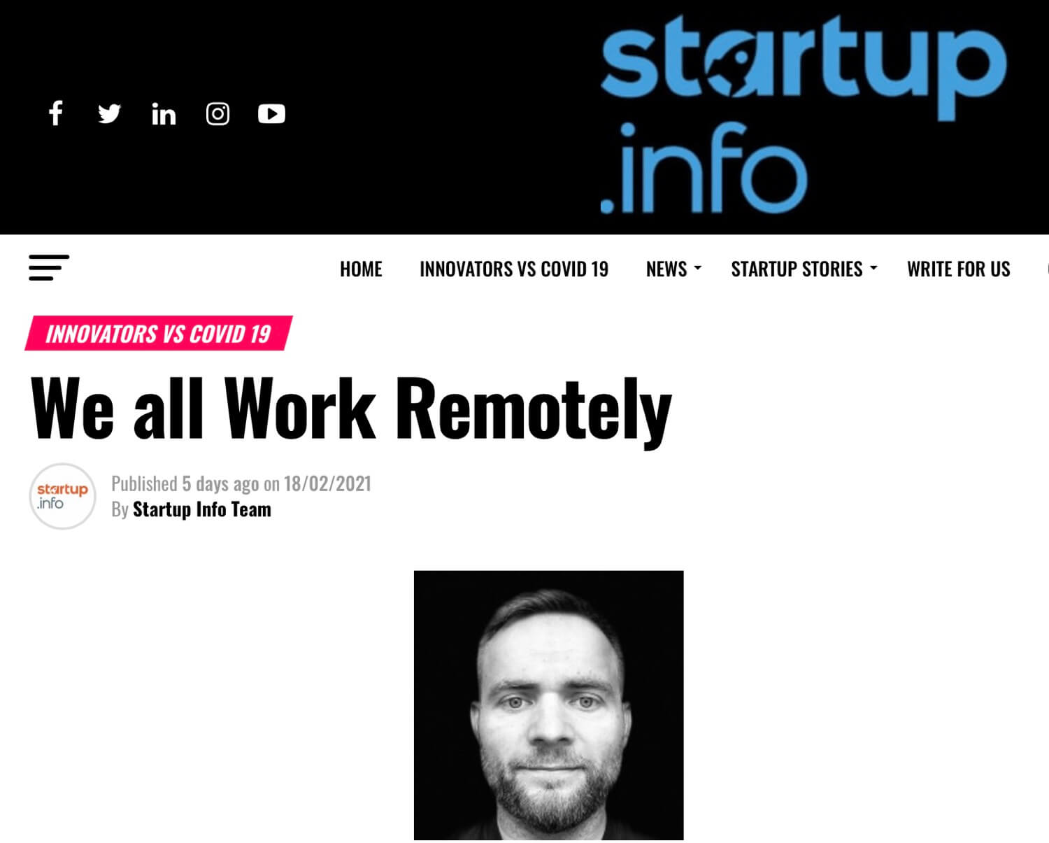 On Startup Info - how we all work remotely