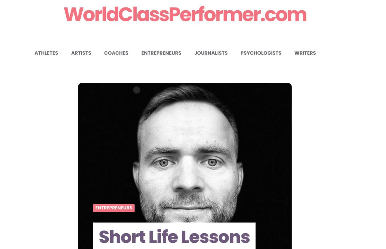 Short Life Lessons on WorldClassPerformer