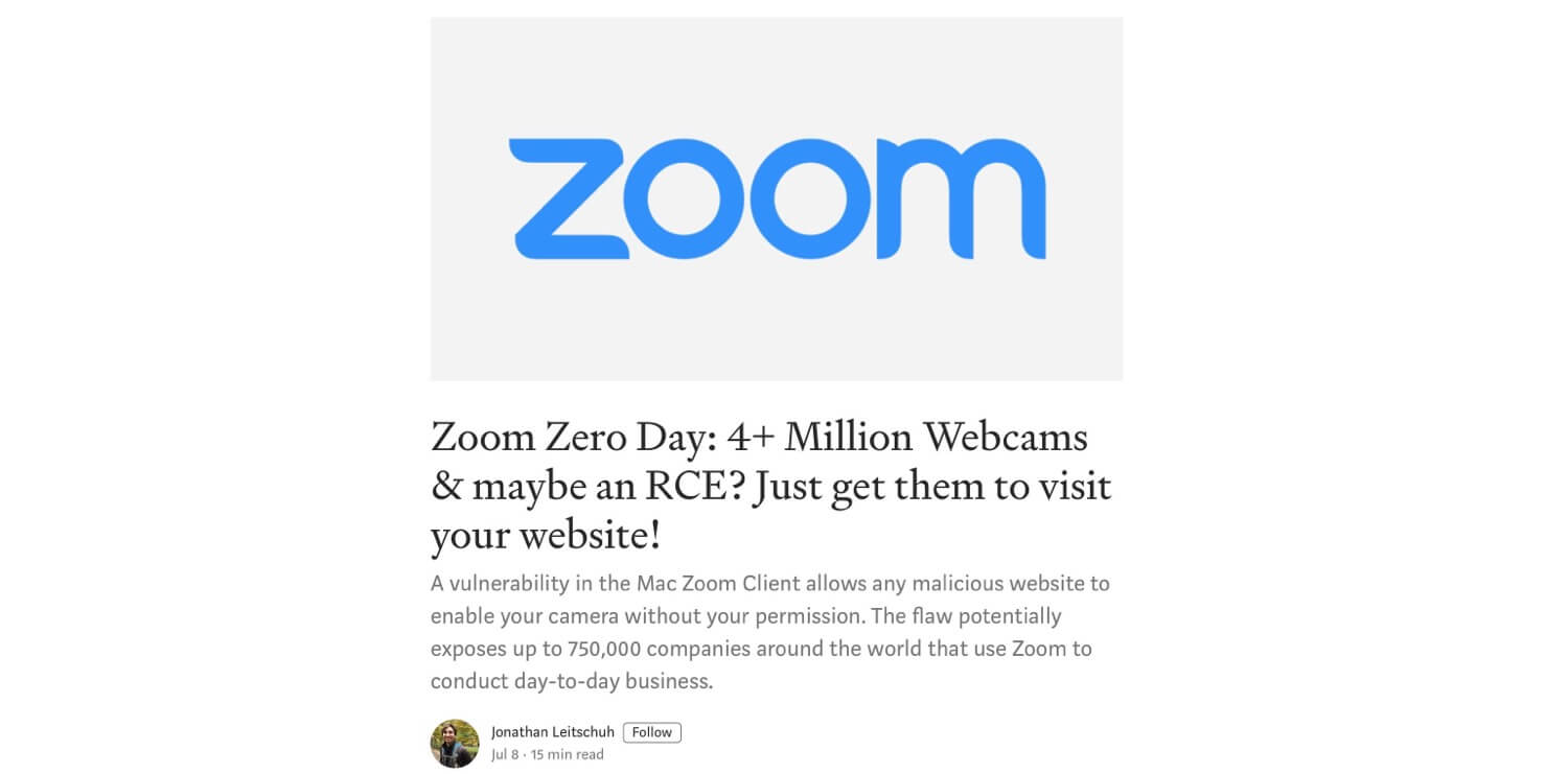 How to get rid of Zoom server from your Mac and why we need a non-SV video conferencing alternative